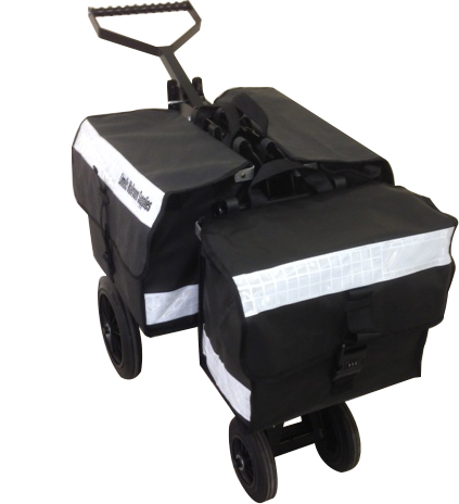 3 Satchel Mail Delivery Trolley