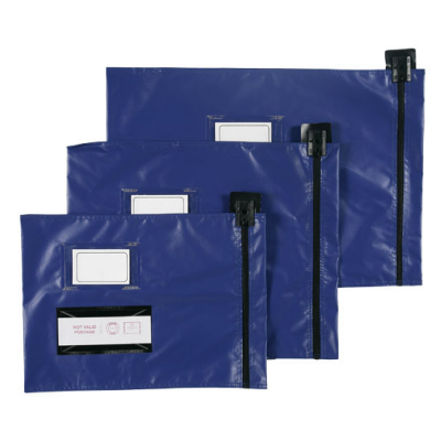 Flat Mailing Pouches - Short Edge Zip - 355mm x 470mm