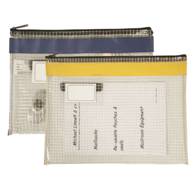 Internal Pouch - Flat Pouch - Colour coded - Long Edge Zip - 410 x 310mm