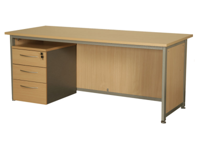 Beech Desk with lockable pedestal