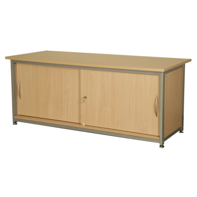 Beech Cupboard with Lockable Doors