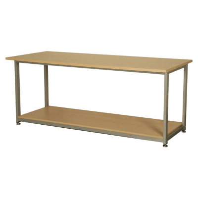 Beech Open Bench with Shelf
