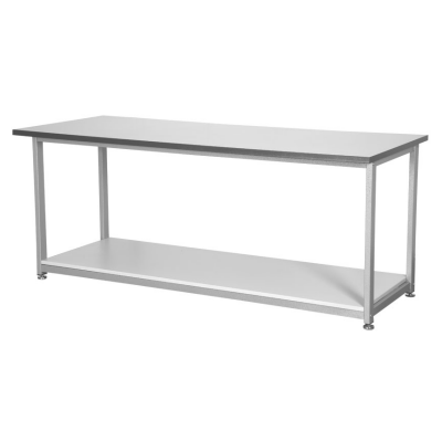Silver Open Bench with Shelf