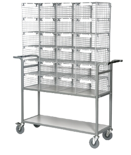 24 Compartment Mobile Sorting and Distribution Trolley